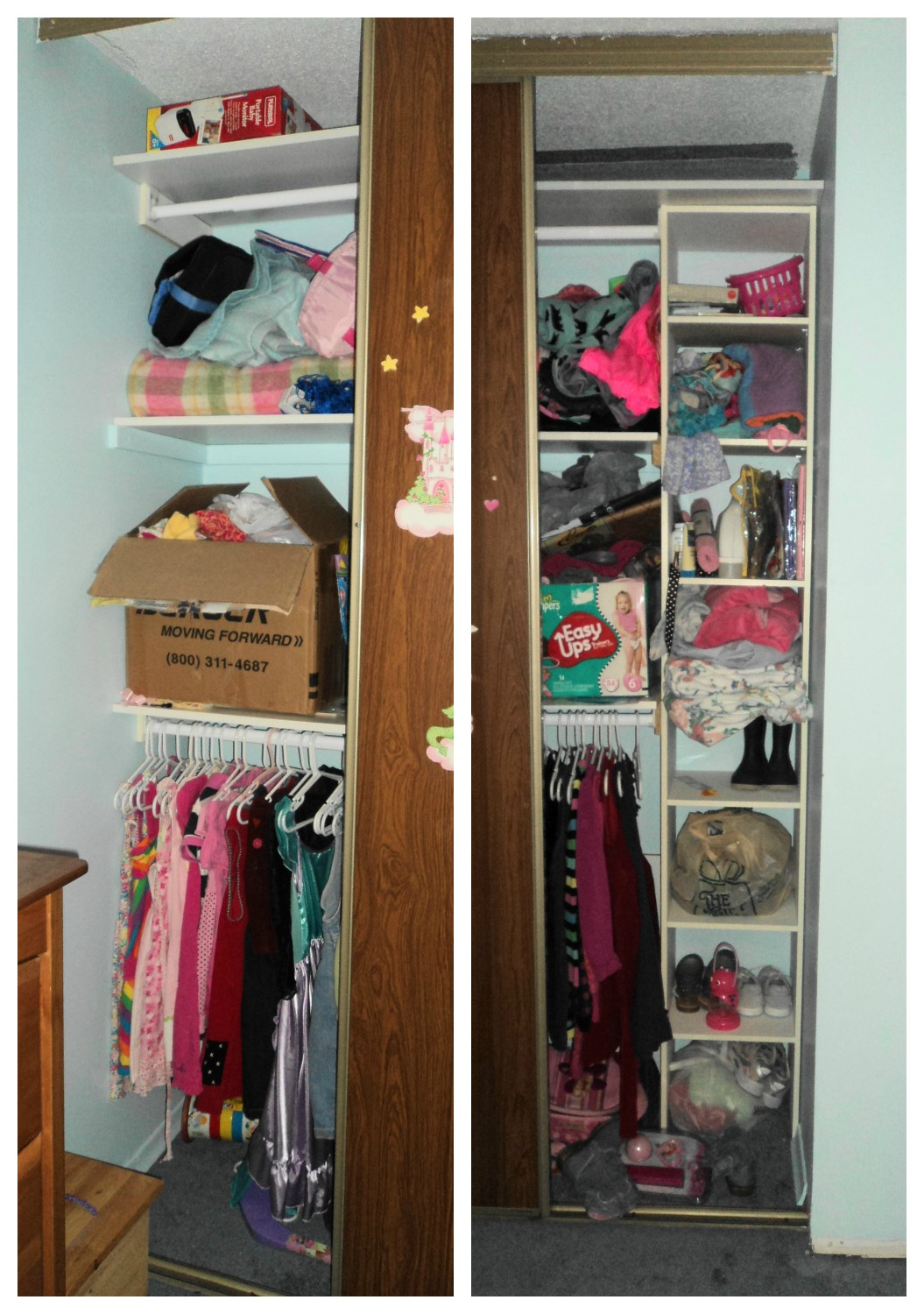 Girl's Closet Before