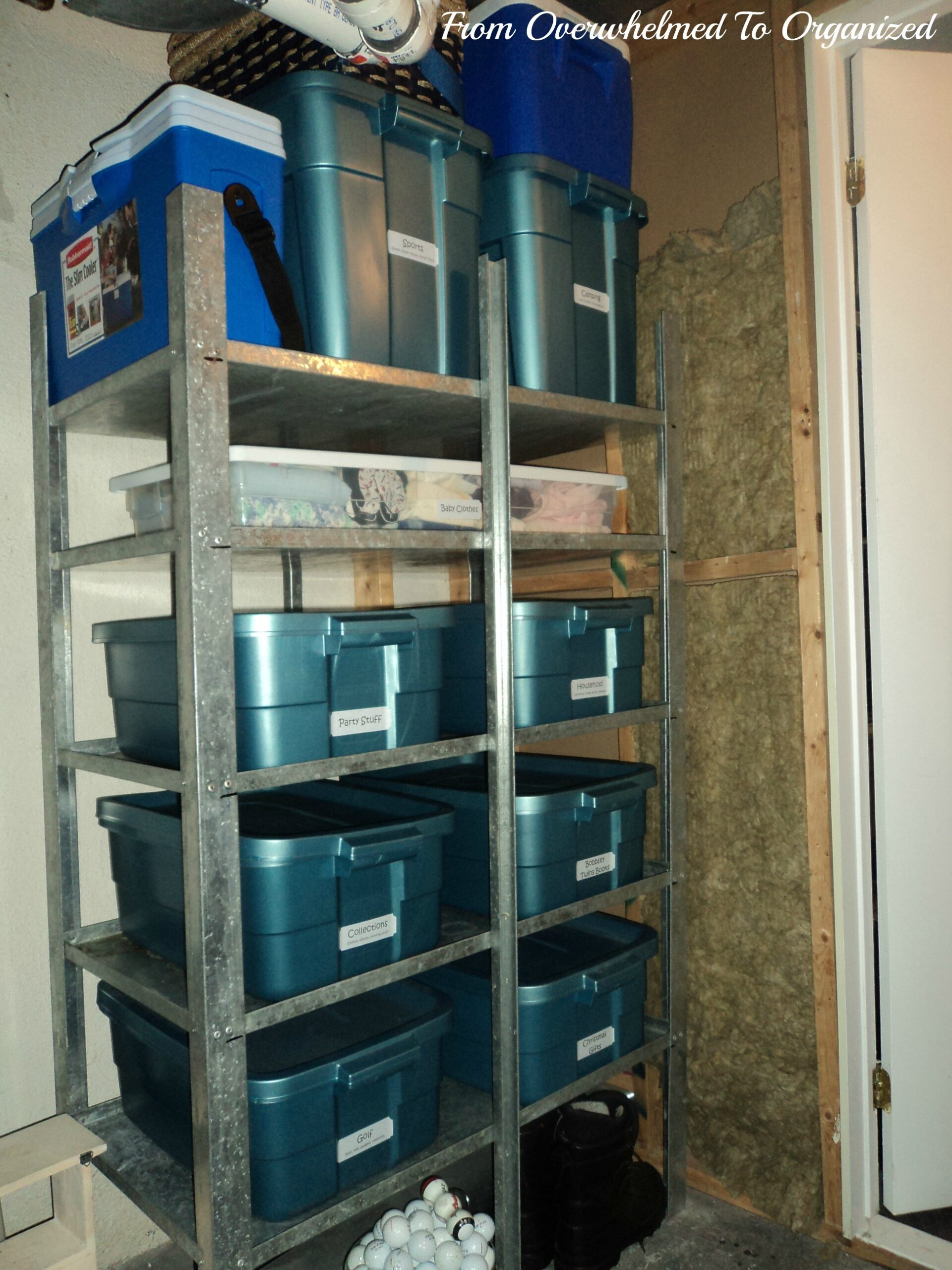 Storage Shelves After